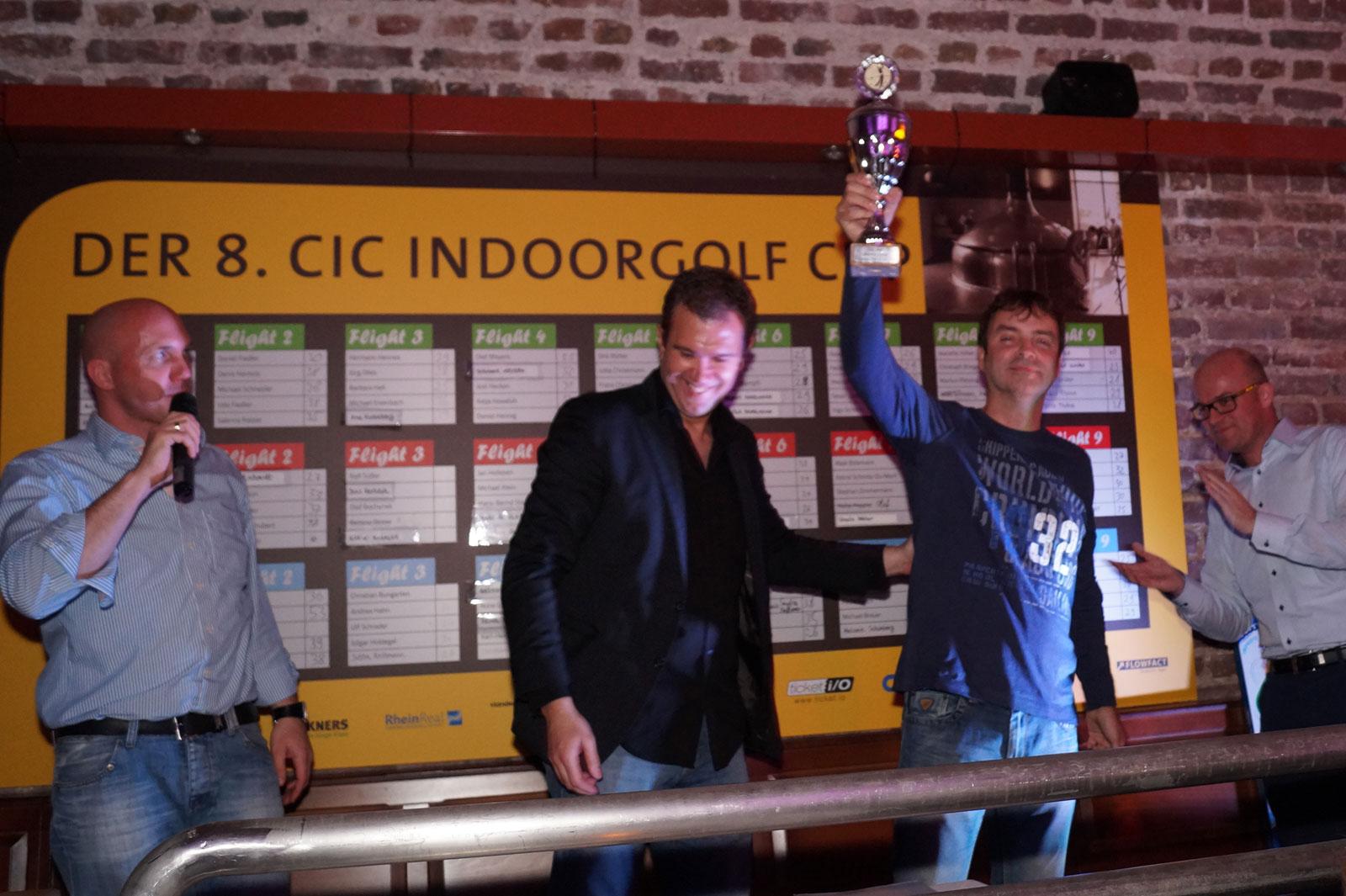 Torsten Klink Sieger des 8. CIC Indoorgolf Cup